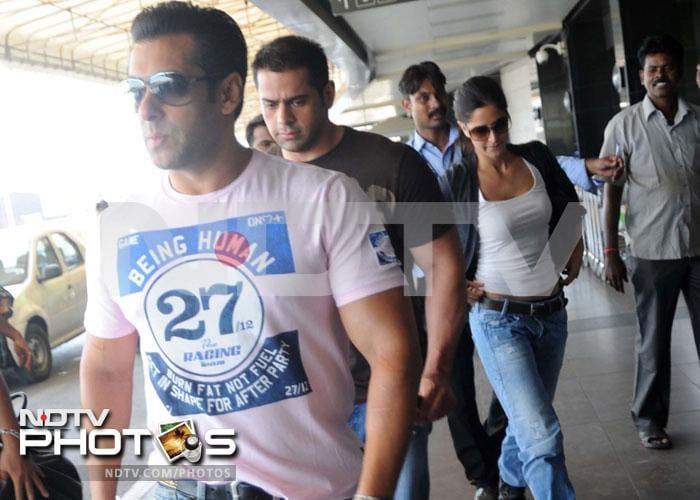 Salman, Katrina leave for Bangkok together