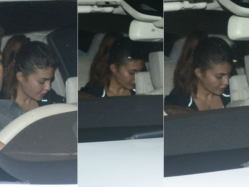 Jacqueline Fernandez Spotted At Salman's Mumbai Home