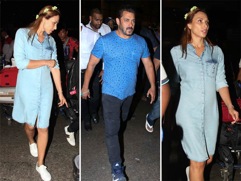 Salman And Iulia Are Back From The Maldives, Colour-Coordinated In Blue