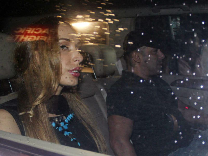 Salman Khan and Iulia Vantur Arrive at Arpita's Party Together