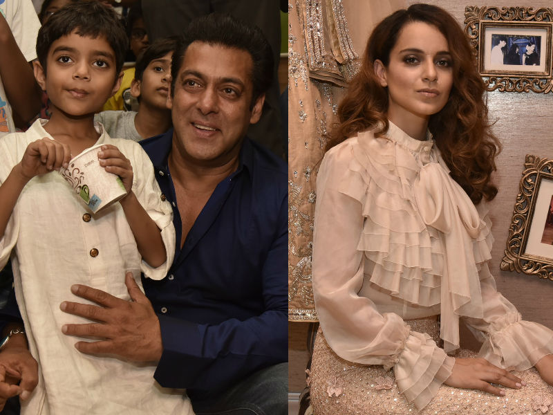 Recap Of Salman, Kangana And Other Celebs' Monday Outing