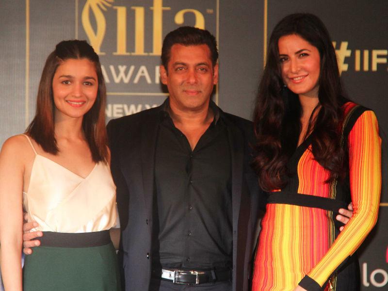 Salman Khan, Katrina Kaif And Alia Bhatt Look Bright And Happy