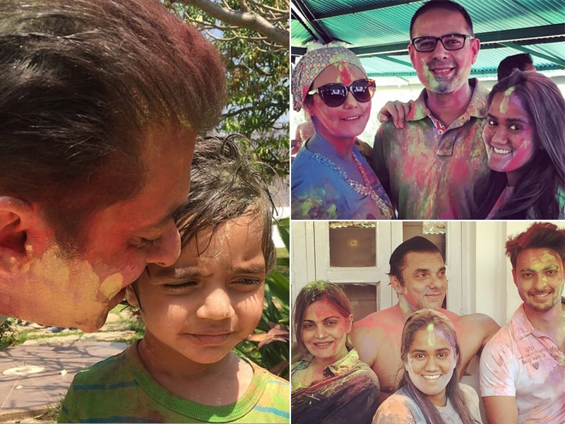 Salman Khan Takes a Day off to Celebrate Holi With Family