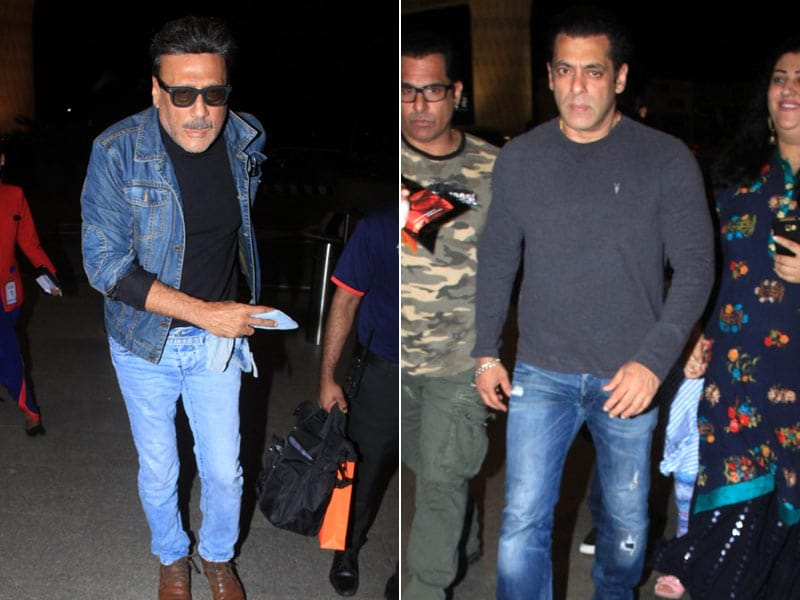 Salman Khan And Jackie Shroff Fly Out Of Mumbai