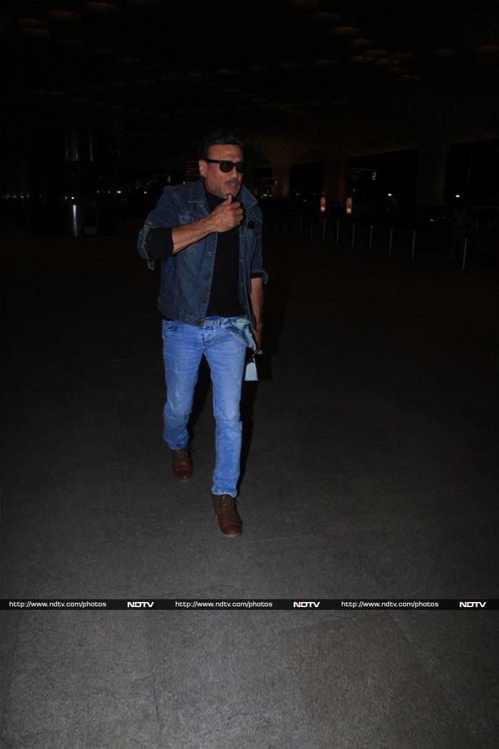 Salman Khan And Jackie Shroff Fly Out Of Mumbai