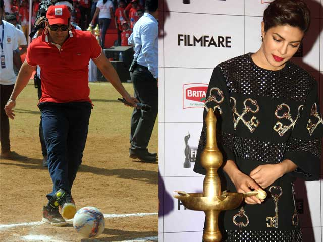 Salman Plays Ball, Priyanka is Lady With the Lamp