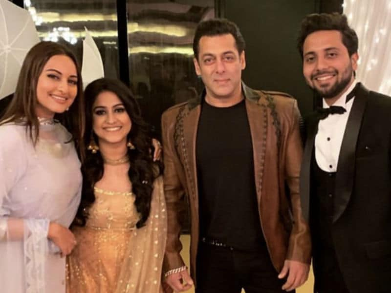 Salman And Sonakshi's Dabangg Style At A Bollywood Wedding