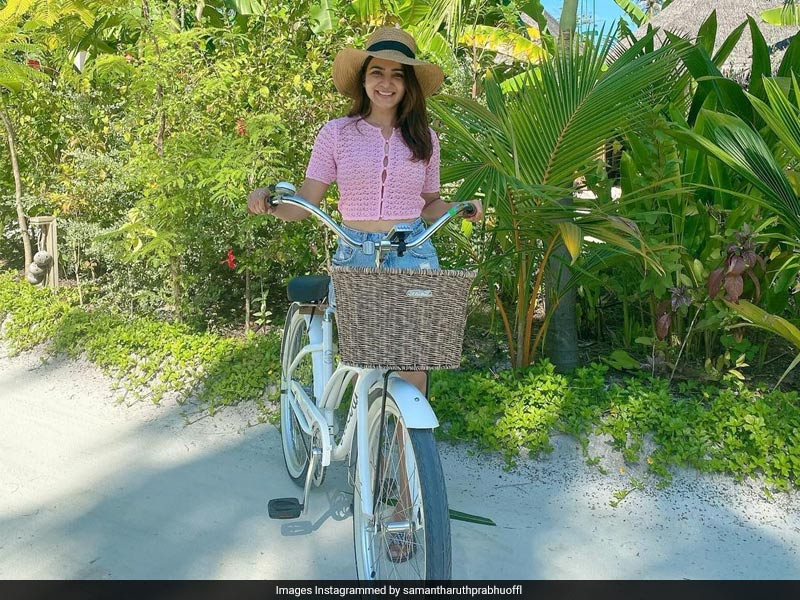 Samantha Ruth Prabhu's Maldives Wardrobe Is Pastel Heaven