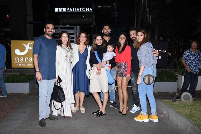 A Night To Remember With Sania Mirza, Yuvraj-Hazel And Sagarika-Zaheer