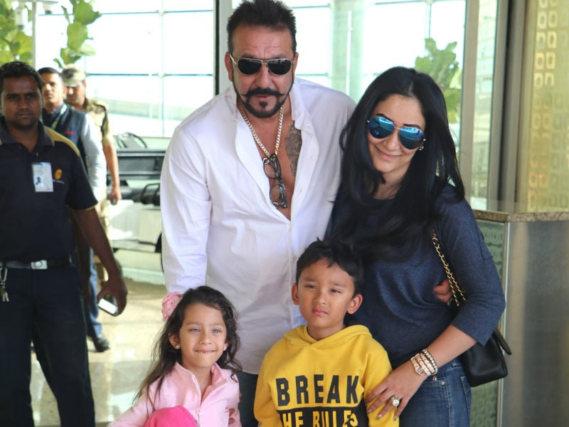 Sanjay Dutt and His Picture Perfect Family at the Airport