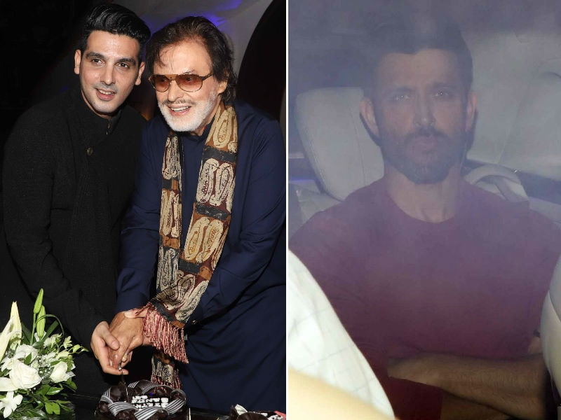 Hrithik Roshan Celebrates Sanjay Khan's Birthday With Zayed And Farah