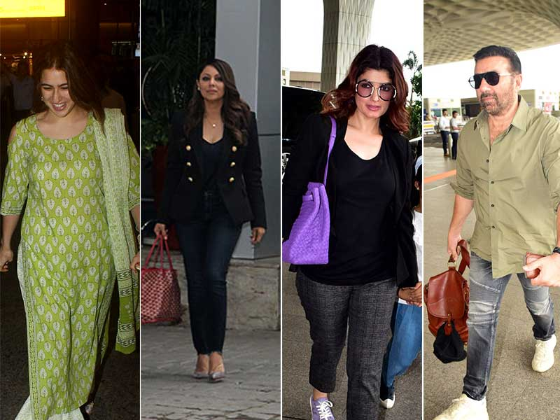 Crowded Airport: Sara, Gauri, Akshay-Twinkle, Sunny. Count The Stars