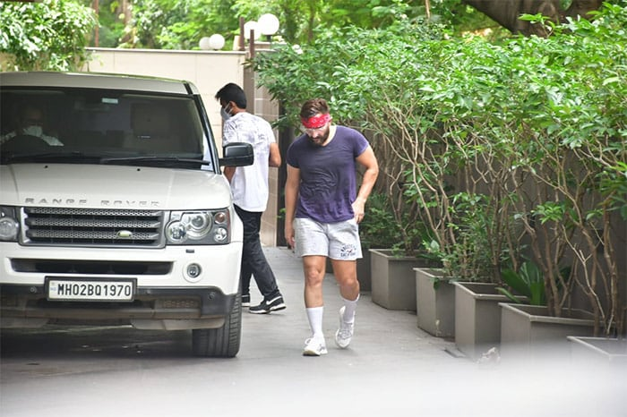 Actor Saif Ali Khan was also pictured outside his gym.