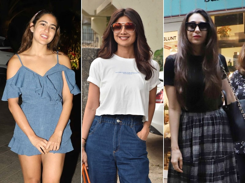 How Sara Ali Khan, Shilpa Shetty And Karisma Kapoor Brightened Up Mumbai