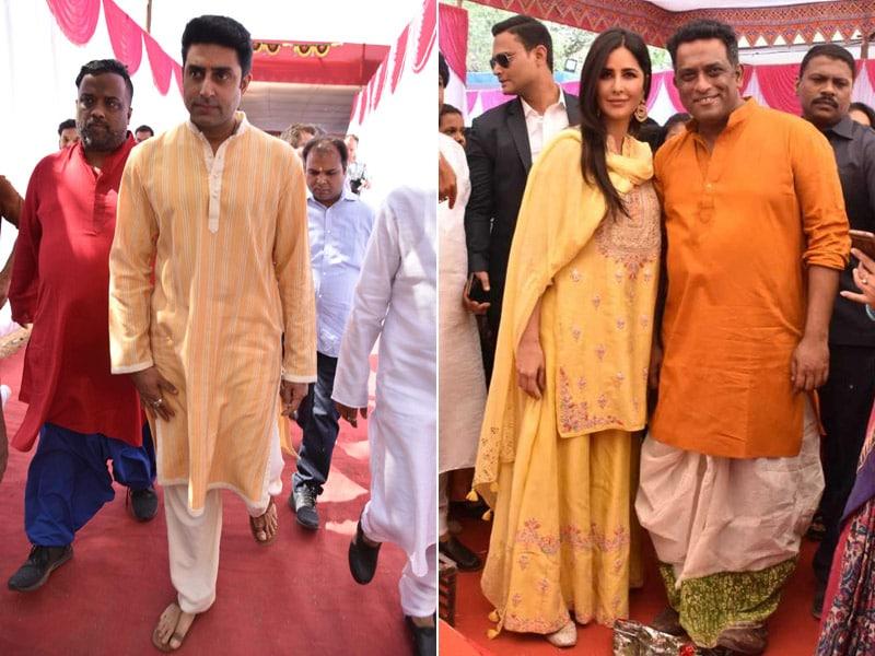 Katrina Kaif And Abhishek Bachchan Attend Anurag Basu's Annual Saraswati Puja
