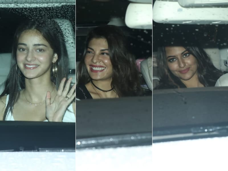 Ananya Panday, Jacqueline Fernandez And Sonakshi Sinha Watch Housefull 4