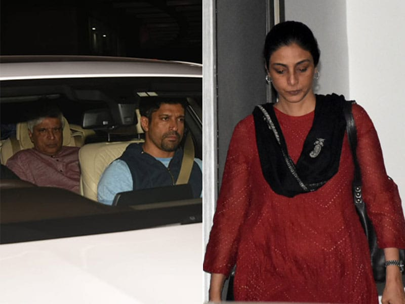 Javed Akhtar, Farhan And Tabu Meet Shabana Azmi At The Hospital