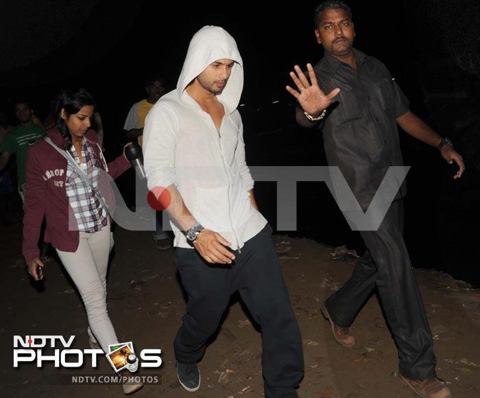 Shahid caught shooting