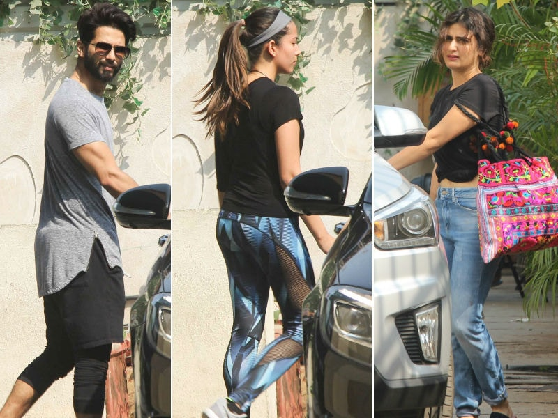 Shahid-Mira And Fatima Are Fitness Enthusiasts