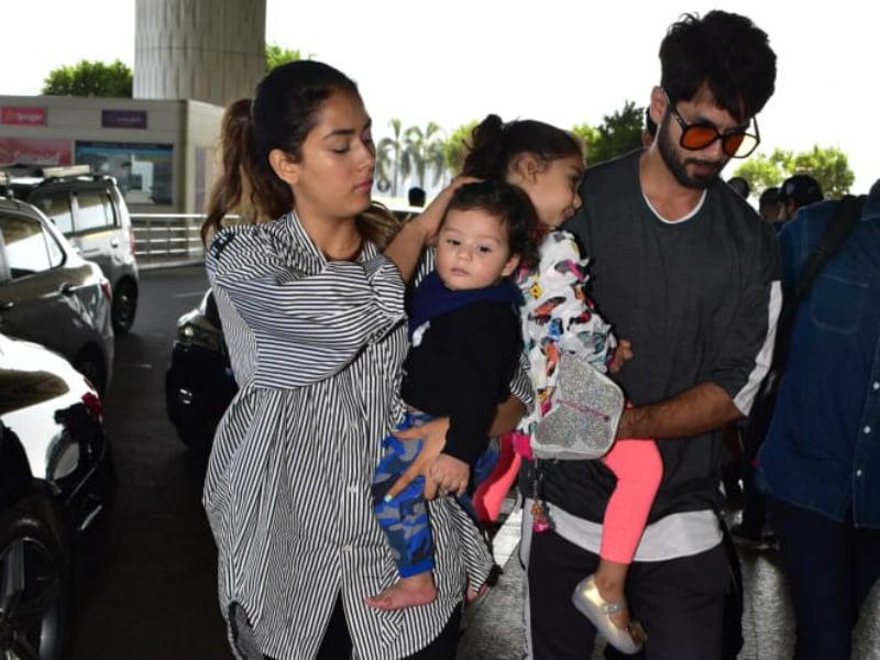Hum Saath Saath Hai: Mira, Shahid, Misha And Zain Fly Off To Singapore