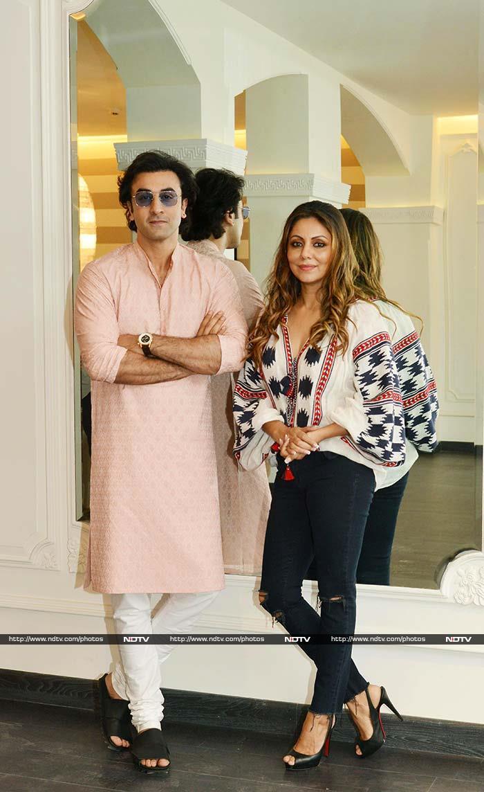 AbRam And Nita Ambani Drop By Gauri Khan Designs