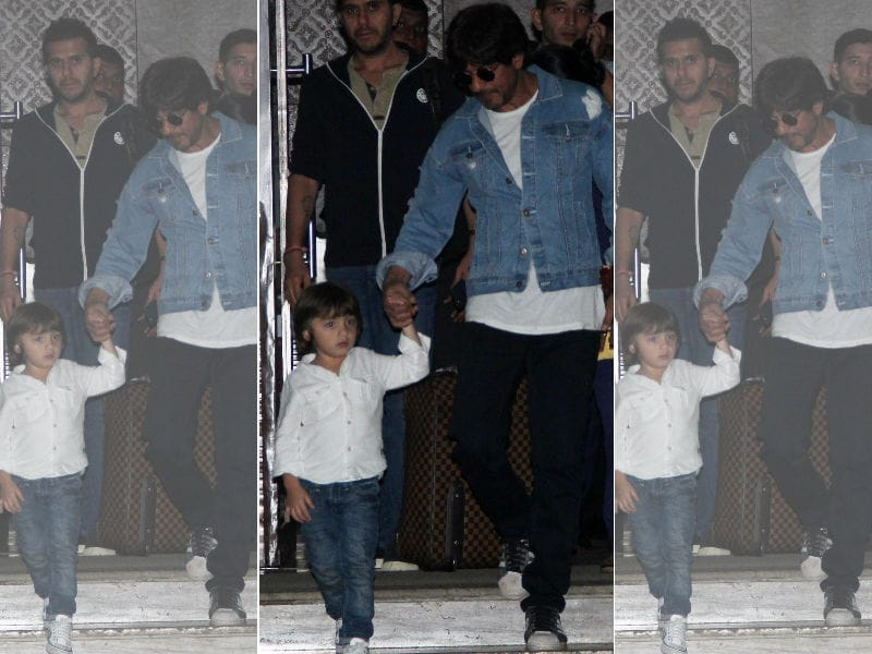 Shah Rukh Khan Returns With Mini-SRK, AbRam By His Side