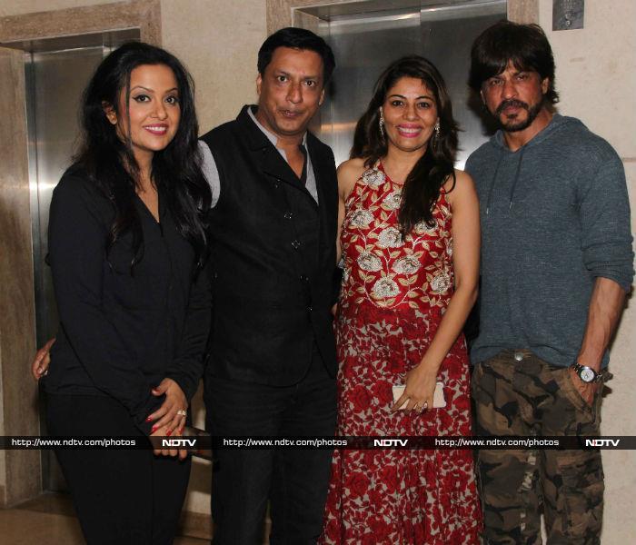 Shah Rukh, Devendra Fadnavis, Baba Siddique At Madhur Bhandarkar\'s Party