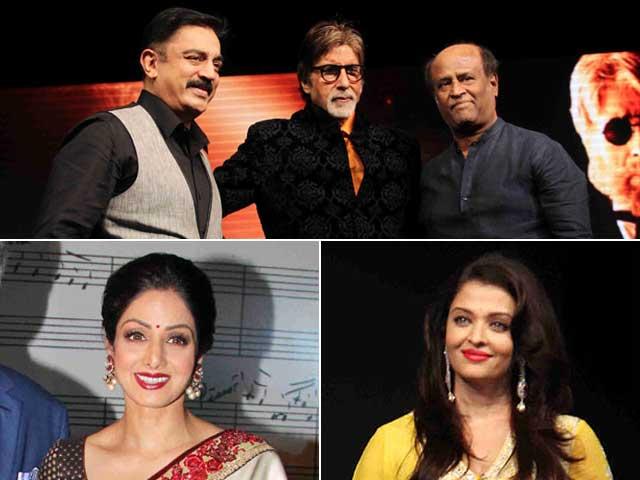 Photo : Rajinikanth, Kamal Haasan, Sridevi, Ash Root for Shamitabh