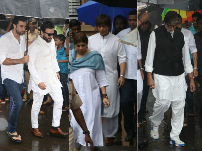The Bachchans, Shah Rukh Khan Attend Shashi Kapoor's Funeral