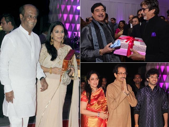 Photo : Rajinikanth, Big B, Thackerays Attend Shatrughan Sinha's Son's Reception