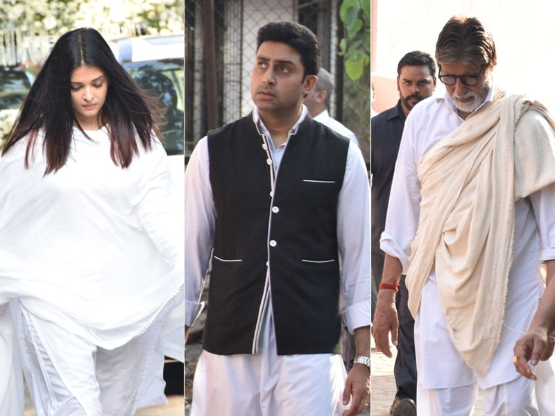 Amitabh Bachchan, Abhishek, Aishwarya Attend Sheetal Jain's Funeral
