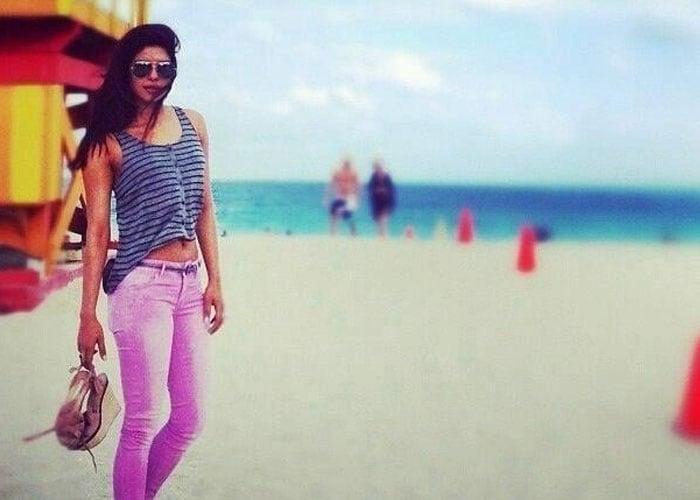 Priyanka at the beach, but no bikini