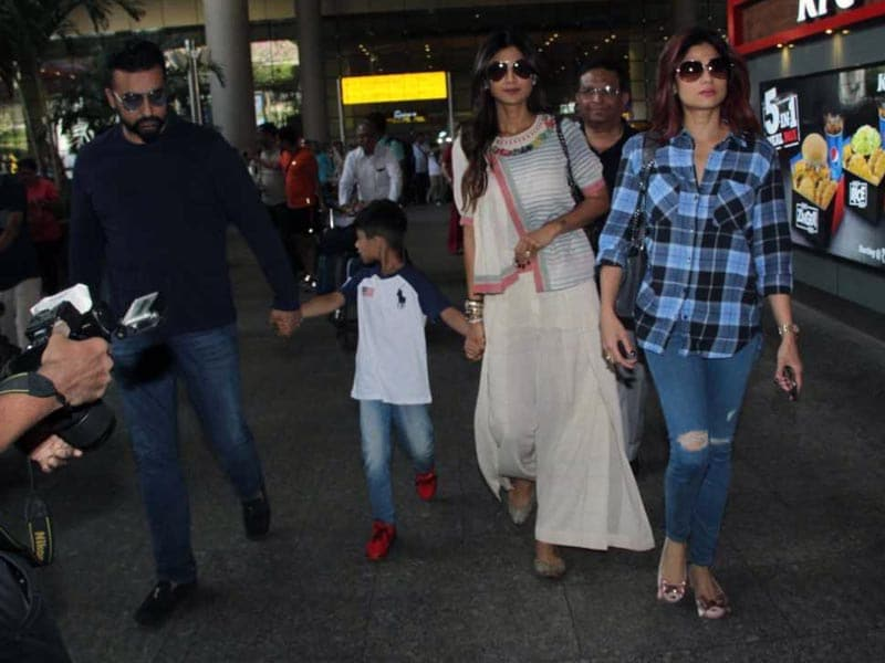 Shilpa Shetty And Family Back In Mumbai