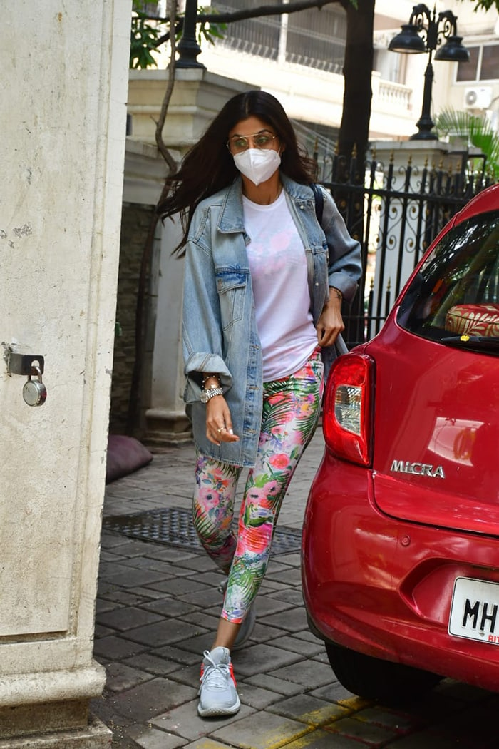 Actress Shilpa Shetty was on Monday spotted outside a clinic in Khar.