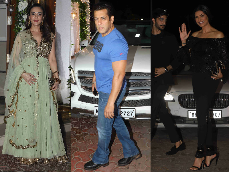Salman Khan, Sushmita Sen, Preity Zinta Add Glitz And Glamour To Shilpa Shetty's Diwali Bash