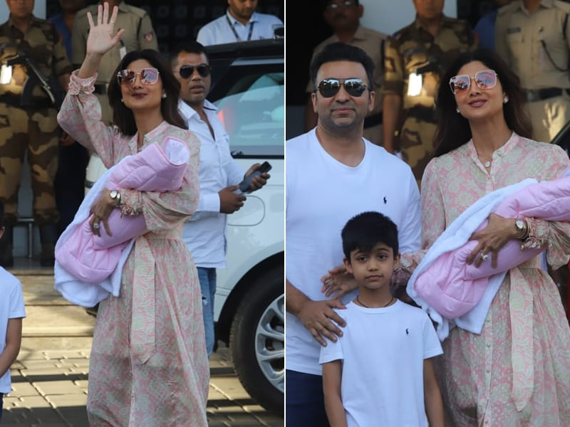 So Happy To See Shilpa Shetty And Raj Kundra With Baby Samisha For The First Time