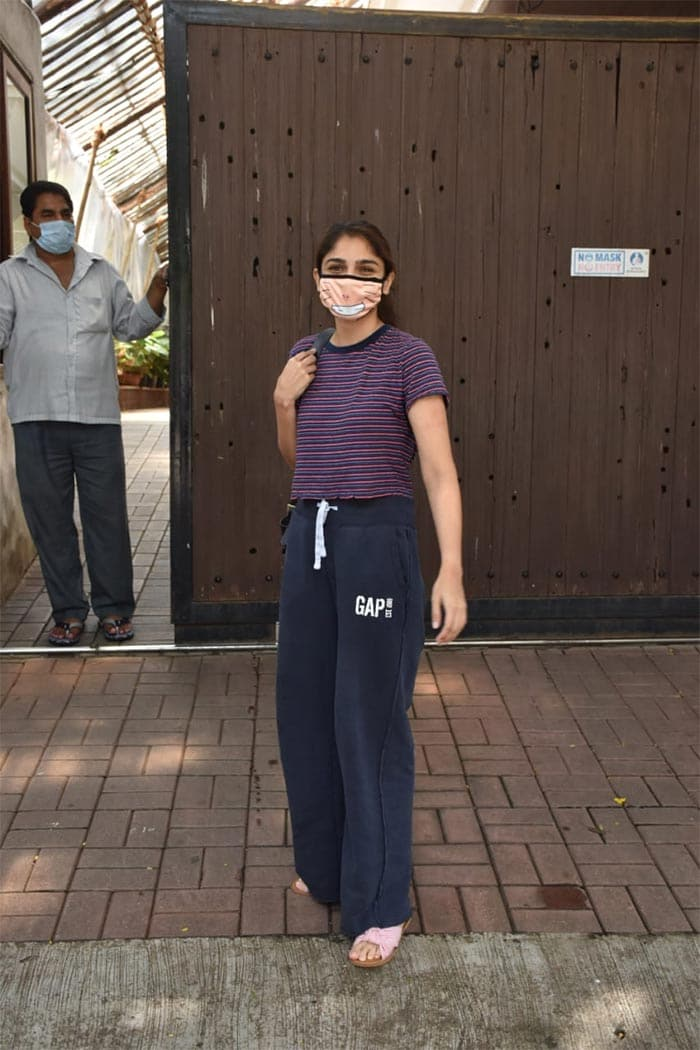 Sharmin Segal was pictured in Juhu.