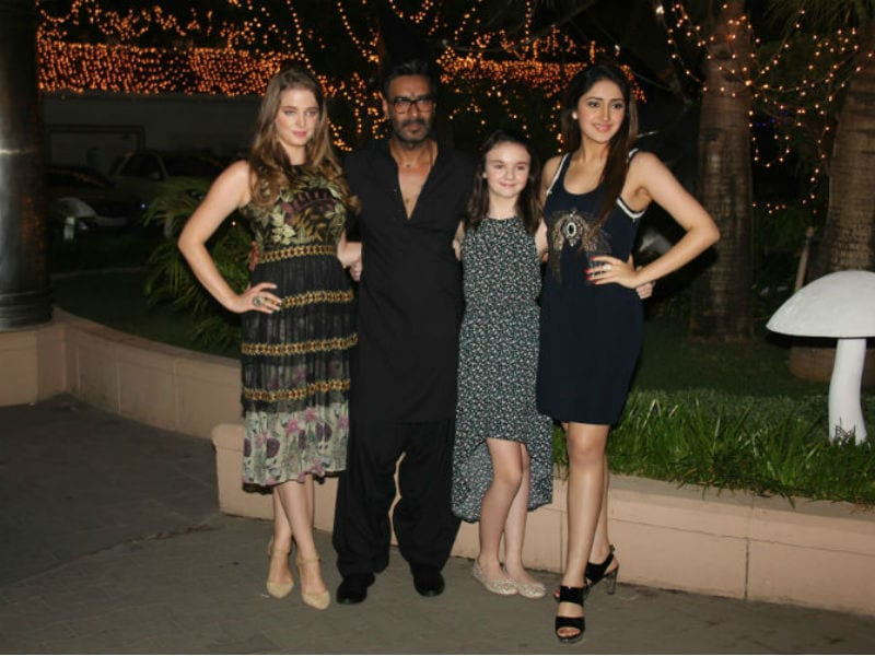 Ajay, Sayyeshaa, Erika Kickstart Diwali Celebrations With Shivaay Screening