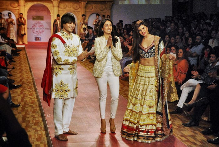 Ramp stars: Jacqueline, Vivek
