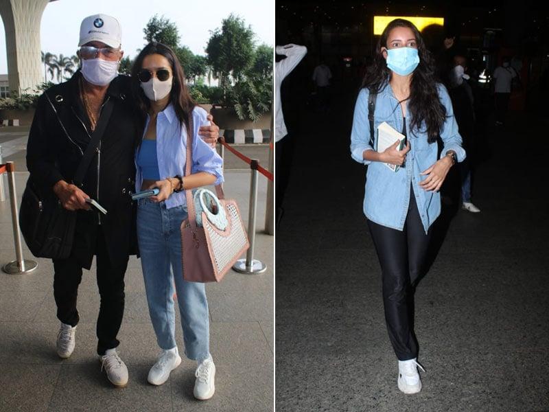 Photo : श्रद्धा कपूर के अलावा मुंबई एयरपोर्ट पर नजर आए ये सितारें