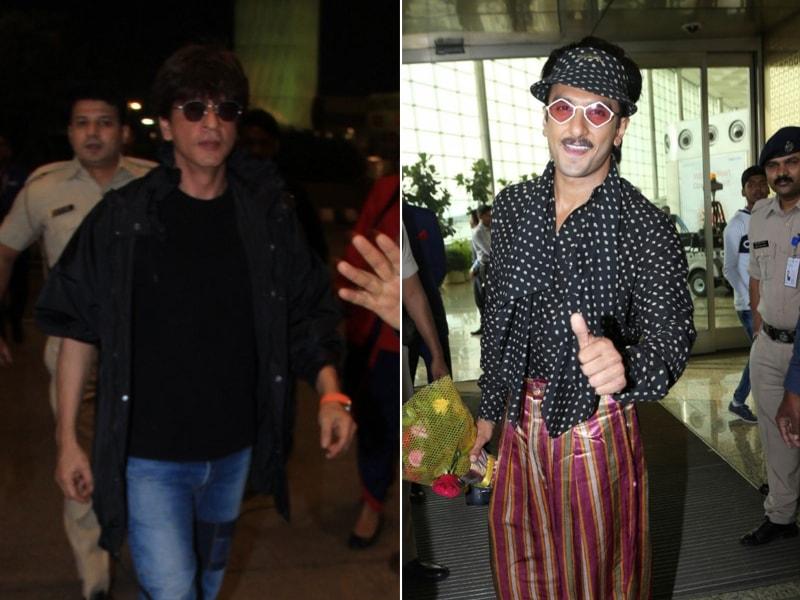 Photo : शाहरुख खान और रणवीर सिंह को मुंबई एयरपोर्ट पर किया गया स्पॉट