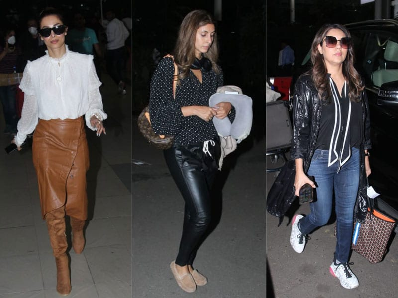 Malaika, Shweta And Gauri Khan's Airport Diaries