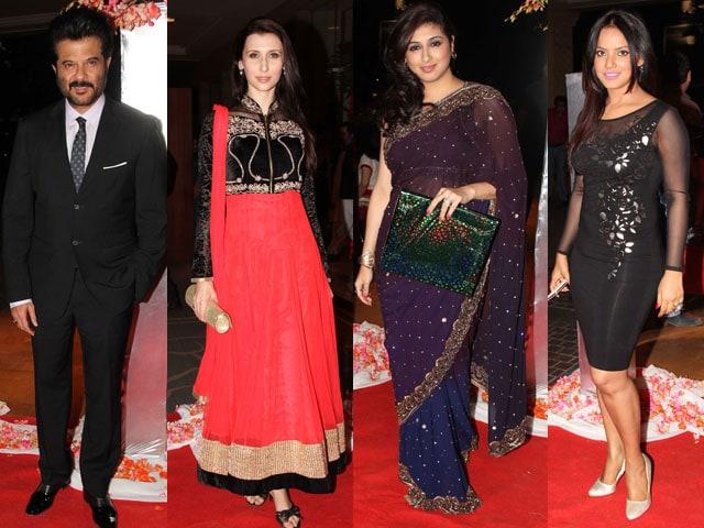 Photo : Wedding season: glamorous stars at TV actor's reception