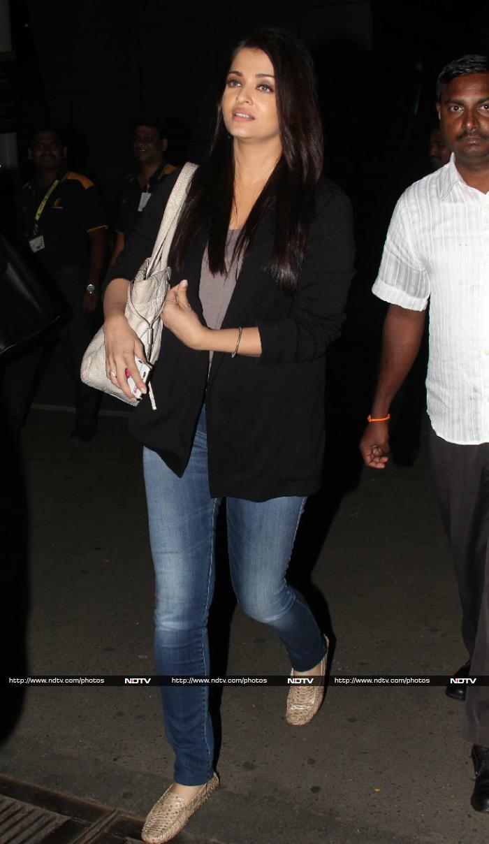 Fly Away Home: Aishwarya, Irrfan at the Airport