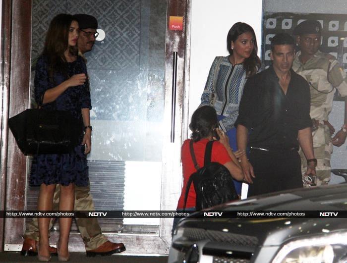 Lara, Amy, Akshay Bliing it on at the Airport
