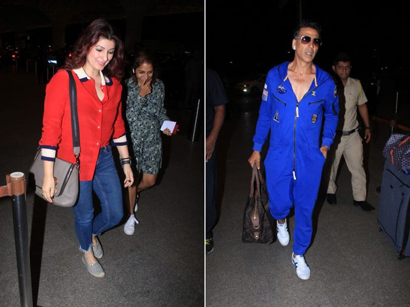 Twinkle Khanna And Akshay Kumar's Airport Diaries