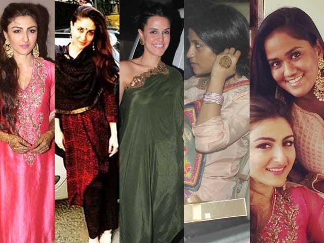 At Soha's Mehendi: Kareena, Neha, Konkona, Arpita