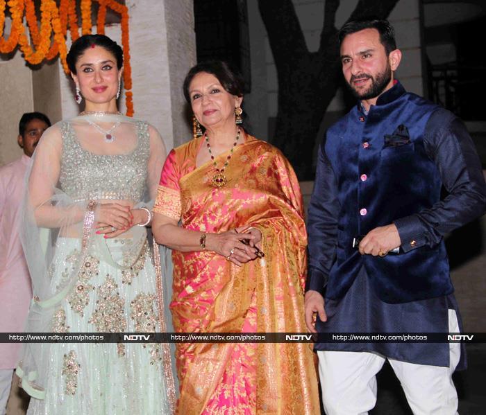 Saif Kareena Sharmila Welcome A List Guests At Sohas Reception