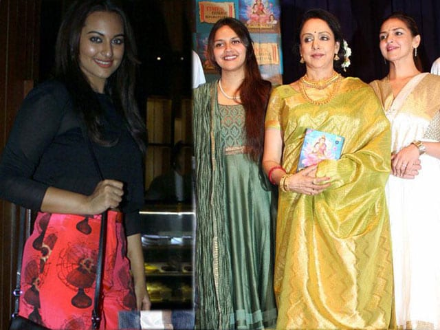 Photo : Party time for Sonakshi, family time for Hema