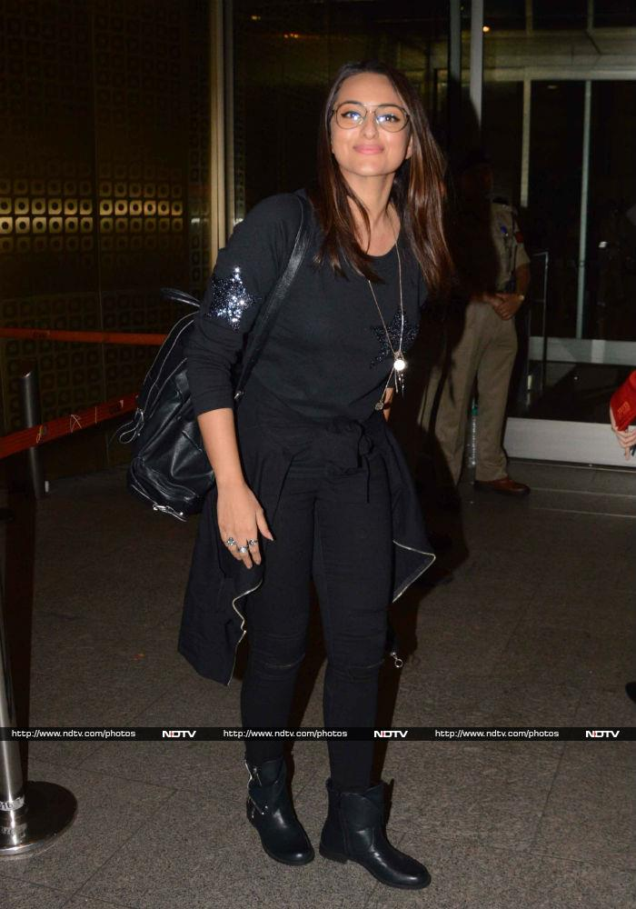 Sonakshi Sinha\'s Up In The Air Style